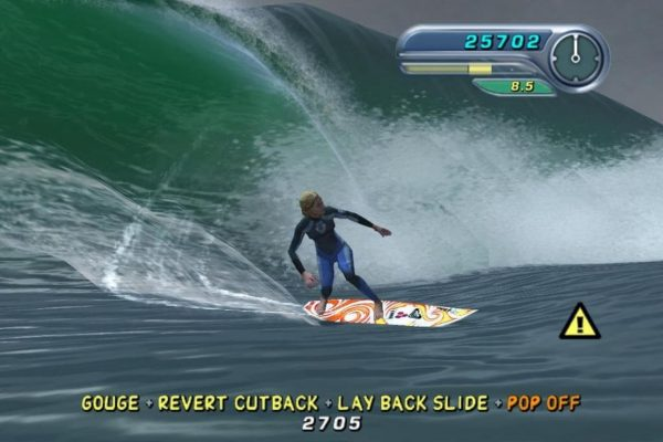 capture d'écran du jeu kelly slaters pro surfer